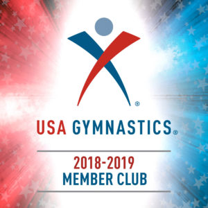 We are a USA Gymnastics Club Member with USA Gymnastics certified staff